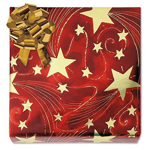 Golden Starlight Foil Rolled Gift Wrap - 38 sq. ft. Metallic wrap