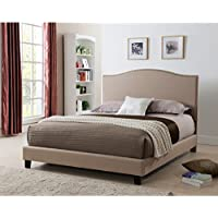 United Furniture Express Laurence Platform Bed with Nail-head Headboard California King