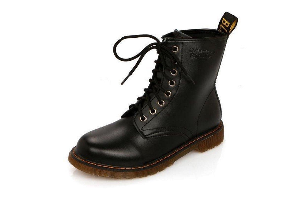 HBDLH-Damenschuhe/Niedrige Martin Stiefel Kurze Stiefel Flache Schuhe Britische Stiefel.