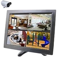 BONDWL 10.1 inch CCTV Camera TFT LCD Video Monitor Surveillance Monitor Security Camera Monitor with AV HDMI BNC VGA Input for PC CCTV Home Security -Stand & Rotating Screen