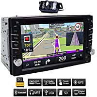 VX702O GPS Navigation 6.2 inch Multimedia Touch Screen Double DIN Car Stereo with Bluetooth & Built-In DVD/USB Port