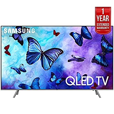 "Samsung 55"" Class QLED Smart 4K UHD TV 2018 Model with 1 Year Extended Warranty"