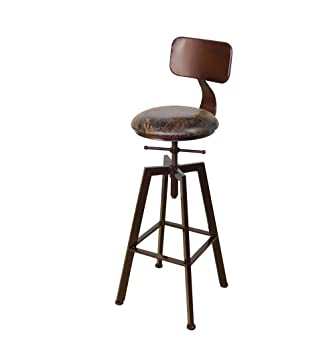 Chaise En De American Tabouret Iron Bar Bois g6IYbfy7v