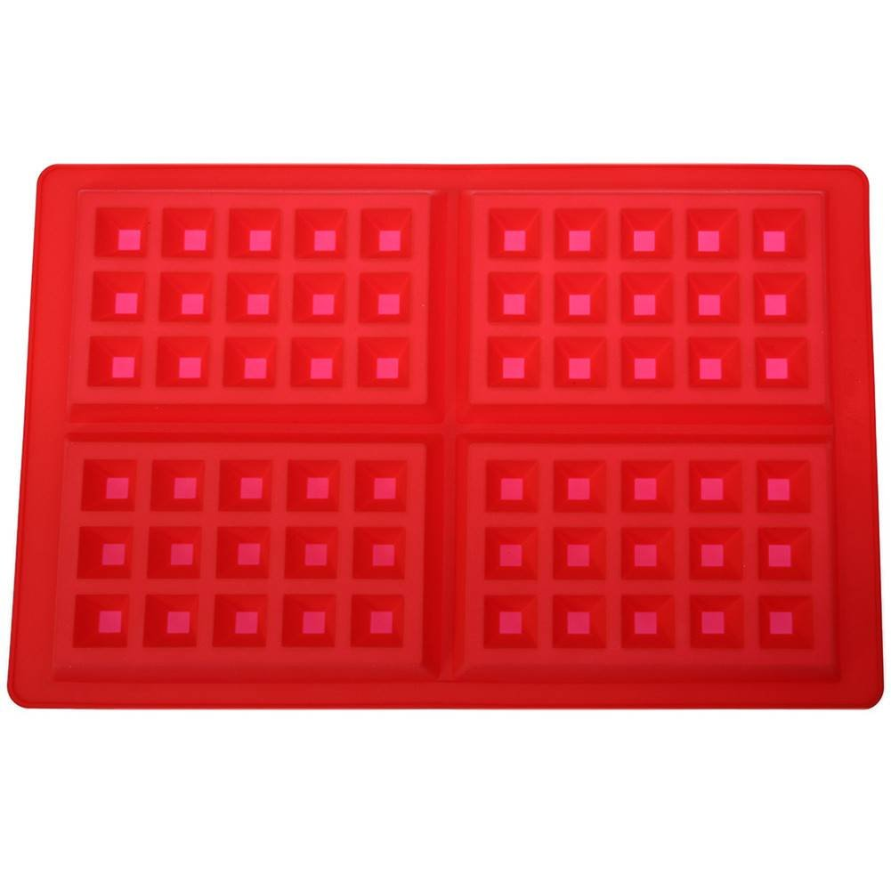 4 Cavities Waffles Cake Chocolate Pan Baking Silicone Mold Cooking Tools Kitchen Accessories