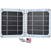 Suntactics S5 Solar Charger -Ultralight -Waterproof -Extremely Durable and Reliable -Auto-Retry -Solar Charge Cell Phones Fast