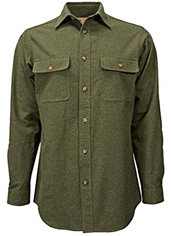 Canyon Guide Outfitters Men's Brushed Cotton Chamois Button Down Shirt (X-Large, Sage) - Canyon Guide