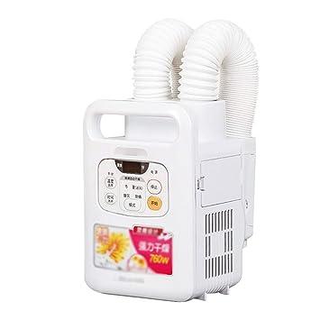 Secadora de ropa de aire caliente multifuncional Mini sección de silencio 760w Ahorro de energía Temperatura de ajuste manual Manguera doble Temporización ...