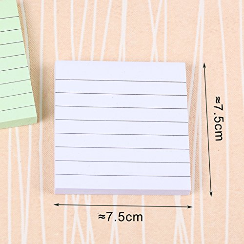 Office Stationery Sticky Notes Square Soild Color Memo Pad 80 Pages Sticker Bookmark Point by Office & School Supplies YingYing (Image #5)