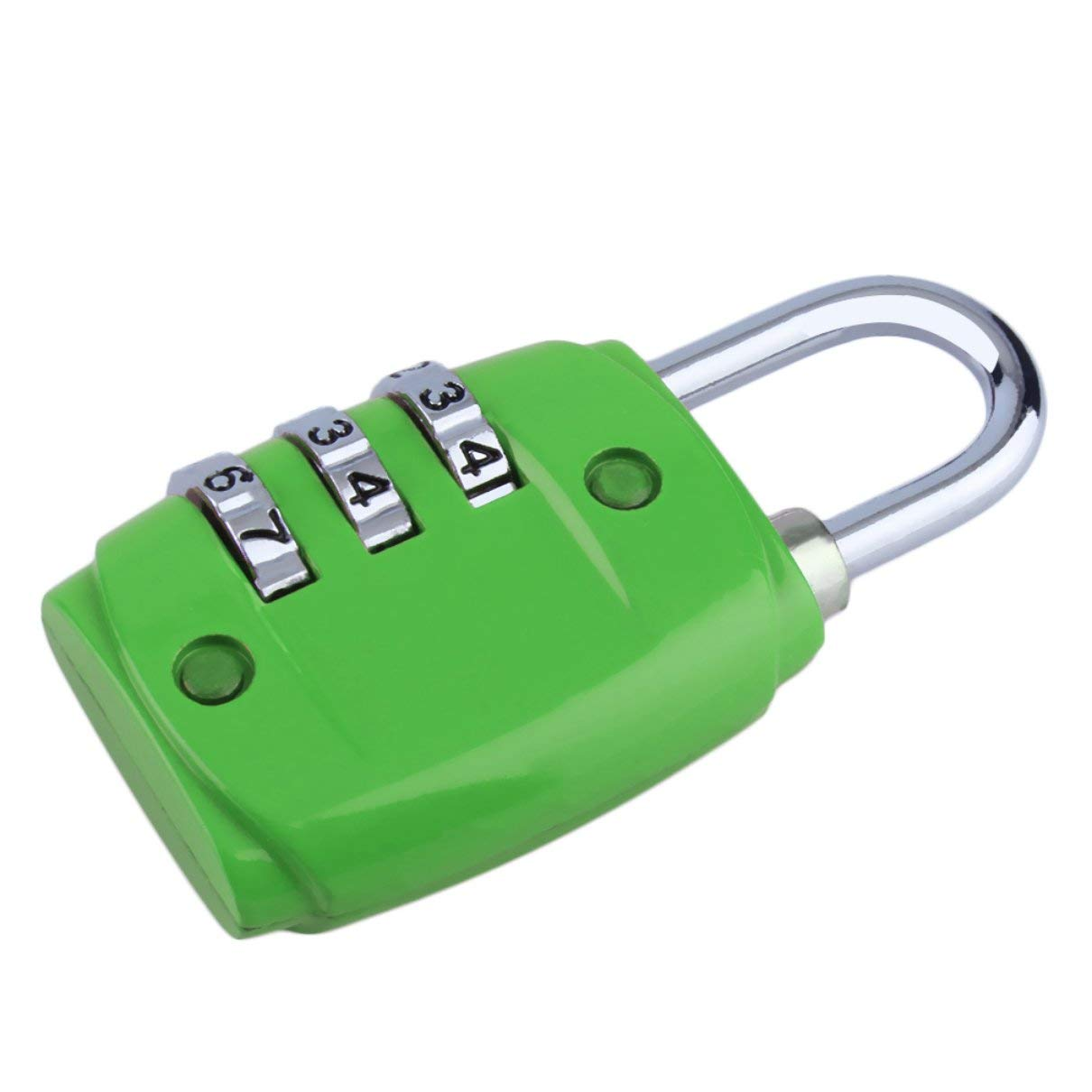 Zinc Alloy Security 3 Digit Dial Combination Code Number Lock Padlock for Luggage Zipper Backpack Handbag Suitcase Drawer