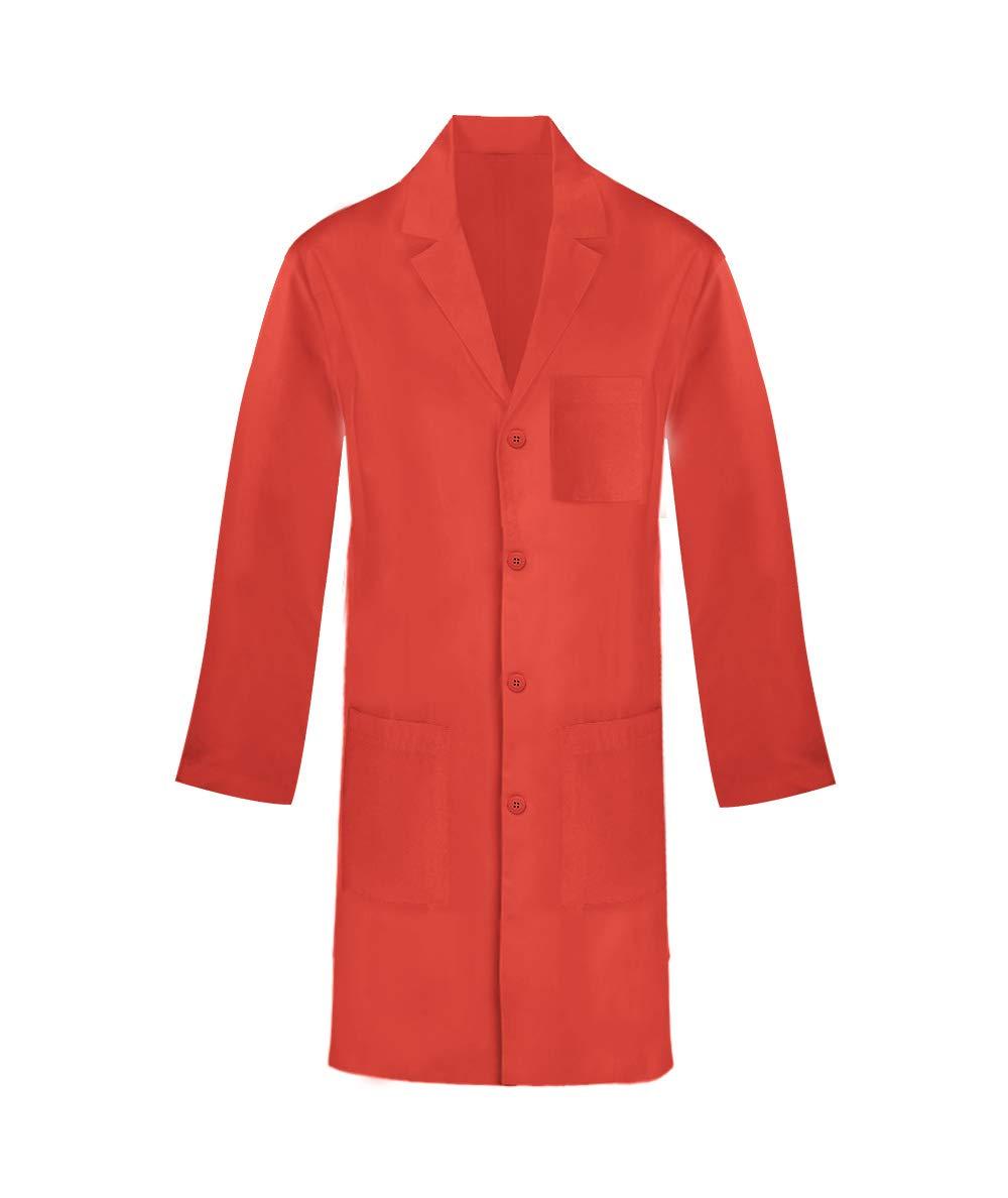 Panda Uniform Custom Unisex Long Lab Coat- Orange -M
