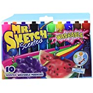 Mr.Sketch Scented Washable Markers, Chisel Tip, Assorted Colors, 10-Count