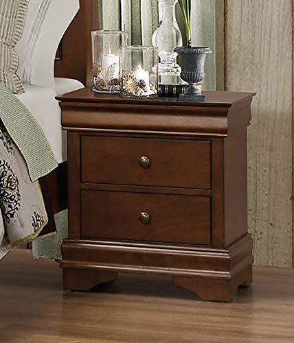 Benjara Benzara BM181832 Wooden Nightstand with Hidden Drawer, Brown,
