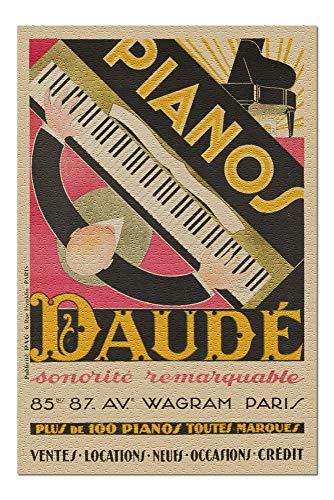 France - Pianos Daude - Sonorite Remarquable - (artist: Daude c. 1926) - Vintage Advertisement (20x30 Premium 1000 Piece Jigsaw Puzzle, Made in USA!)