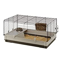 Ferplast CAGE KROLIK LARGE Rabbit Cage, Knock Down System, 39, 37x23, 62xH 19, 68-Inch Green