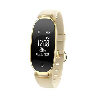 Tiptiper Rastreador de fitness para mujer y niñas Monitor de frecuencia cardíaca, Sueño y actividad multimodo Podómetro impermeable Reloj inteligente para ...