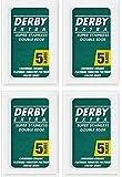 Derby Extra Double Edge Safety Razor Blades, 20 blades (5x4)