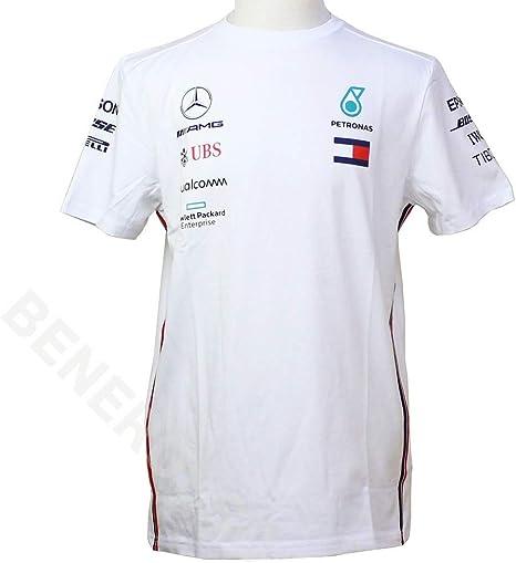 Mercedes-AMG Petronas Motorsport Mercancía Oficial de Fórmula 1 Equipo Camiseta - Blanco: Amazon.es: Deportes y aire libre