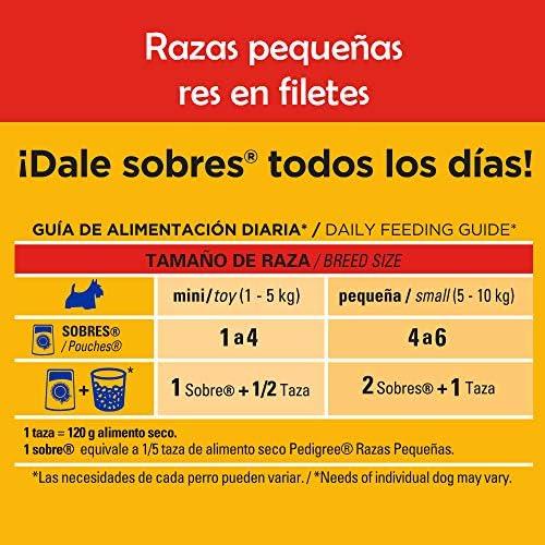 Pedigree Alimento Húmedo Razas Pequeñas Res en Filetes, paquete de 10 sobres 3