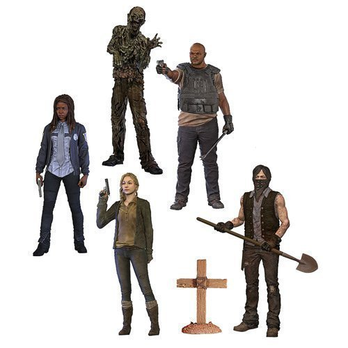 The Walking Dead TV Series 9 Beth Greene, Grave Digger Daryl Dixon, T-Dog, Water Walker and Constable Michonne Action Figures Set of 5 by Walking Dead