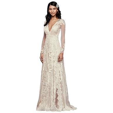 e14b6705872e Melissa Sweet Linear Lace Wedding Dress Style MS251173 at Amazon Women's  Clothing store: