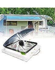 Caravan Roof Vent Ventilator, 3 Speed Intake & Uitlaat, Camper Van RV Roof Vent Fan 12V met Regensensor, Elektrische Crank Lift & Rooke Deksel - voor RV Air Vent Ventilatie