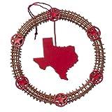 Texas Wreath Metal Christmas Ornament