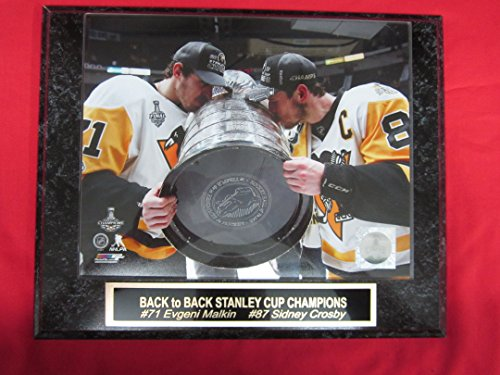 Sidney Crosby Evgeni Malkin Pittsburgh Penguins Collector Plaque w/8x10 Stanley Cup Photo