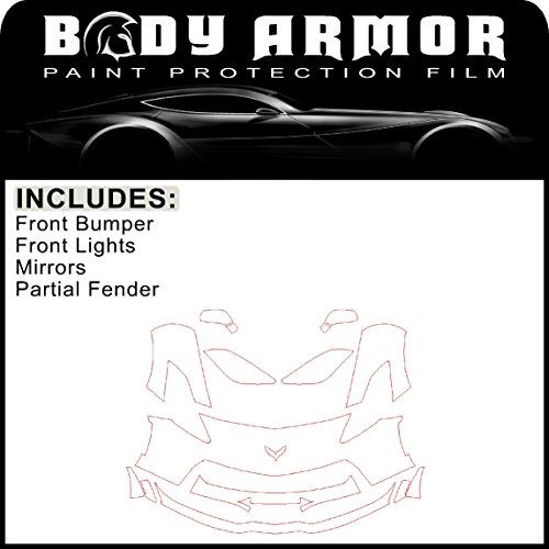 B34 - 2014 2015 2016 2017 Chevy Corvette Z06 - Precut Clear Bra PPF Paint Protection Film Pre Cut Kit - Front Bumper, Partial Fenders, Head Lights, Mirrors