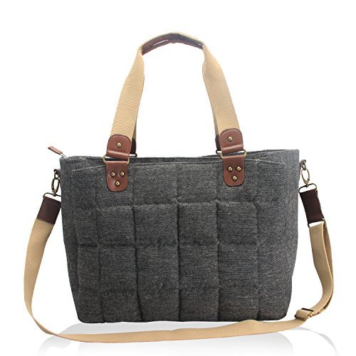 iaper Tote Bag, Causal Hand Shoulder Bag with Matching Changing Pad and Stroller Straps, Soft and Multifunctional, Perfect for Travel, Work, or Everyday Outings ()