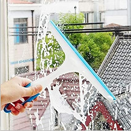 Lynn025Keats Soft Silicone Glass Window Wiper Cleaner Home Shower Bathroom Mirror Scraper