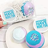 Mermaids have more Fun Bath Bomb Spa Gift Set. Mermaid Party Gift. Sugar Scrub Body Butter Lotion