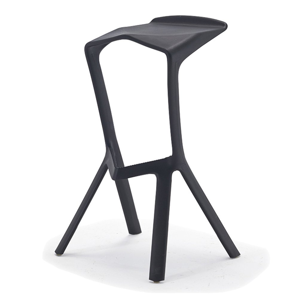 Modern simple, casual fashion, creative bar tables and chairs / high stool / bar chairs / counter chairs, PP plastic material ( Color : Black )