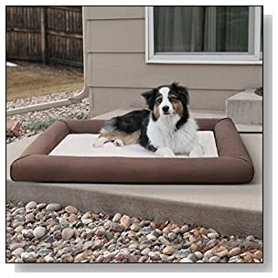 K&H Pet Products Deluxe Lectro-Soft Outdoor Heated Bed Large Chocolate/Tan 34.5