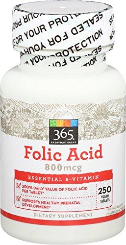 365 Everyday Value, 366 Folic Acid 800mcg, 250 ct