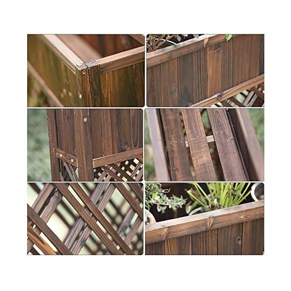 HEMFV Outdoor Patio in Legno rialzata Garden Bed Elevato Planter Box Fiore 4 spesavip