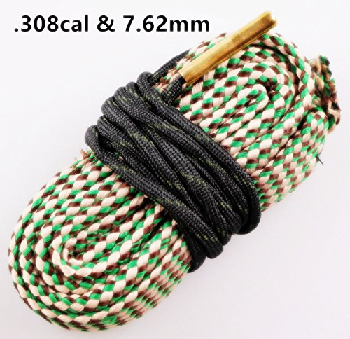 New Bore Cleaner .30 Cal .308 30-06 .300 .303 & 7.62mm Gun Barrel Cleaning Rope Rifle/Pistol/Shotgun Brass Brush Cleaning Cord