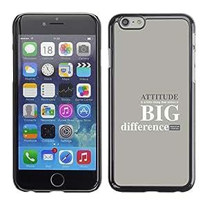 ROKK CASES / Apple Iphone 6 Plus 5.5 / ATTITUDE - BIG DIFFERENCE / Delgado Negro Plástico caso cubierta Shell Armor Funda Case Cover
