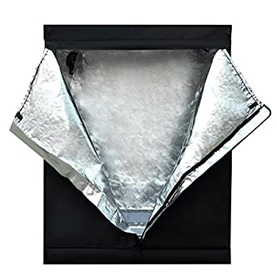 """EaseeTop 48""""x24""""x60"""" Grow Tent Mylar Hydroponic Growing Tent for Indoor Plant Growing, Gardening and Germination"""