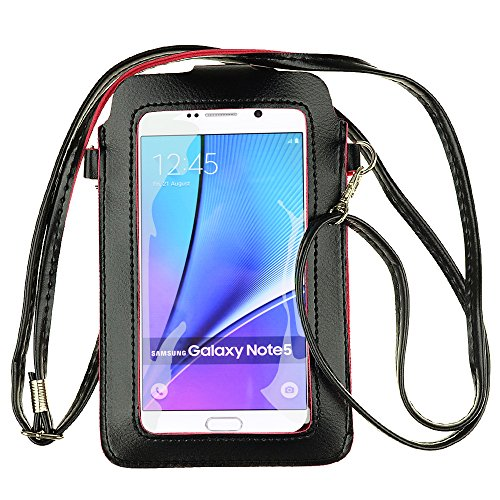 Touch Screen Faux Leather Women Small Cell Phone Purse Wallet Holder Shoulder Pouch Cross-Body Bag with Pocket for Samsung S10 Plus S9 Plus S9 S10, LG V40 ThinQ V20 G6 Stylo4, Motorola g7 g6 e4