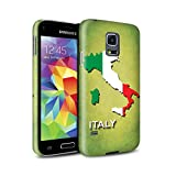 italian flag phone case galaxy s5 - STUFF4 Matte Hard Back Snap-On Phone Case for Samsung Galaxy S5 Mini / Italy/Italian Design / Flag Nations Collection