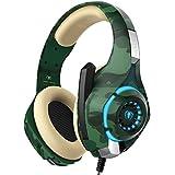 Cuffie Gaming PS4 Xbox One PC Smartphone con Microfono Deep Bass Cancellazione del Rumore Controllo del Volume