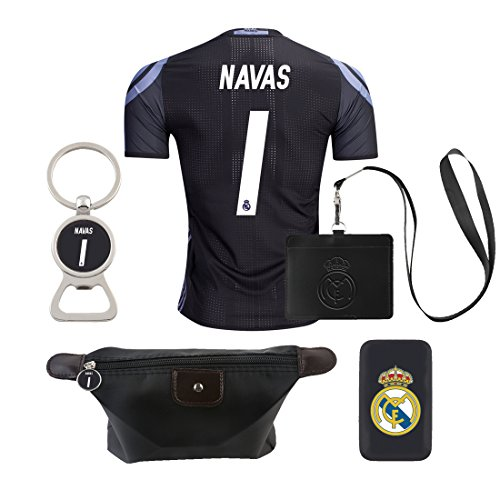 Costa Rica Away Jersey (#1 Navas (6 in 1 Combo) Real Madrid C.F. 2nd Away Match Adult Soccer Jersey 2016-2017)