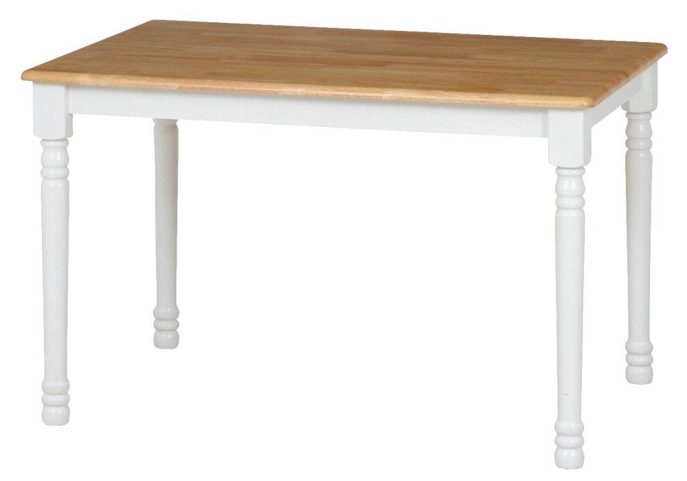 ダイニングテーブル 北欧 長方形 木製 ホワイト × ナチュラル B07FCJRM7F