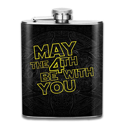 May The 4th Be With You Hip Flask Pocket Stainless Steel Flask,7 Oz -