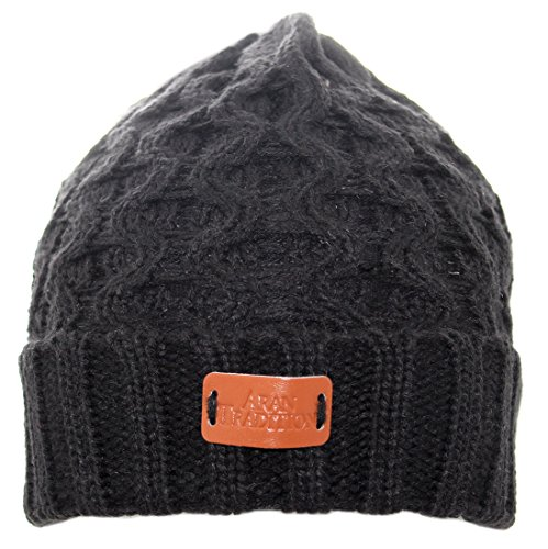Design Hat Knit Traditions Aran Black Cable Beanie qIPOz