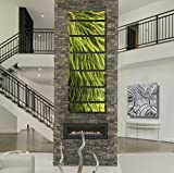 Jewel-toned Fusions of Green and Gold Tones Wall Panel - Abstract Metal Wall Art - Rays Of Hope by Jon Allen