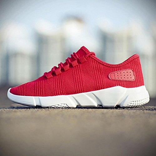Lace Sneaker Laufschuhe Sneakers Weiss Rot Schuhe Atmungsaktiv Schuhe Freizeitschuhe Rot Sport Mesh Schwarz up Herren Fitnessschuhe Casual Xw7UrXq