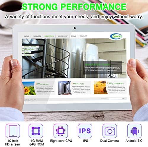 10 inch Android Tablet PC, Octa-Core Processor, 5G-WiFi Google Tablet, 4GB RAM, 64GB ROM, HD Touchscreen Built-in Bluetooth WiFi GPS M5 (Silver) 51sU64cvRjL