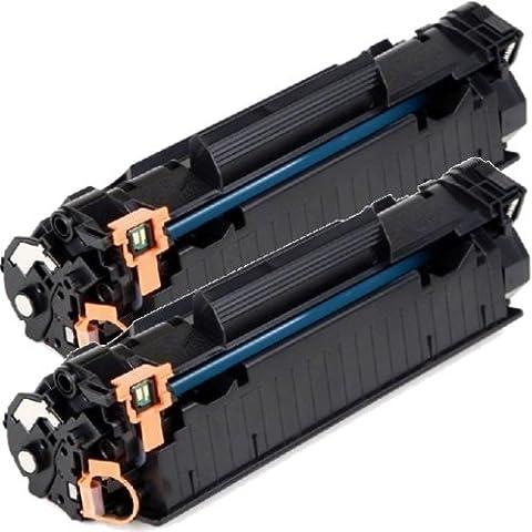 2 Pack 2inkjet© CE285A (85A) Compatible/Remanufactured Toner Cartridge For HP LaserJet M1132, M1212nf, M1217nfW, P1102, P1102W (2 (Hp 85a Black Toner)