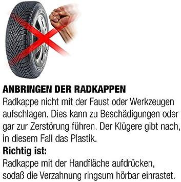 Eight Tec Handelsagentur Radkappen Radblenden DRF BUNDEL silber 16 Zoll universell passend vom Radkappen-K/önig